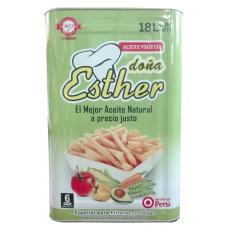 Aceite Doña Esther en lata de 18 litros